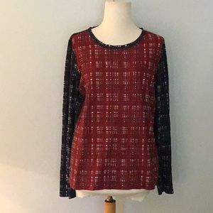 Tory Burch long-sleeved knit shirt, sz M